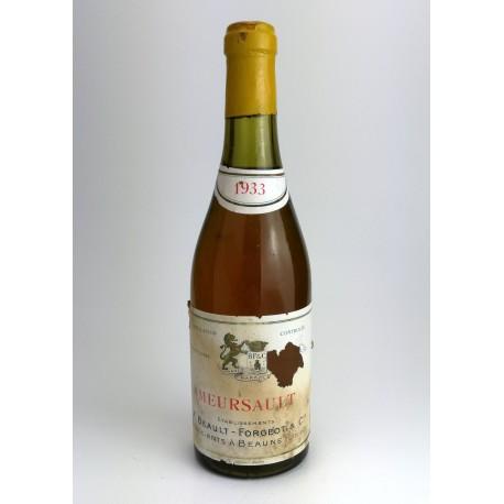 1933 - Meusault - F. Beault-Forgeot & Cie - half bottle